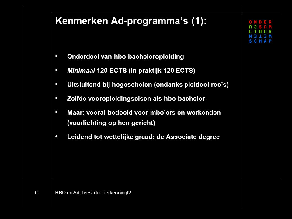 Kenmerken Ad-programma's (2)