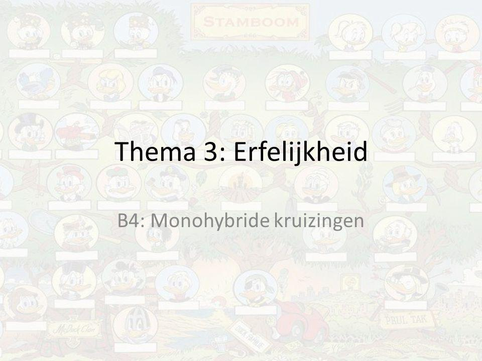 B4: Monohybride kruizingen