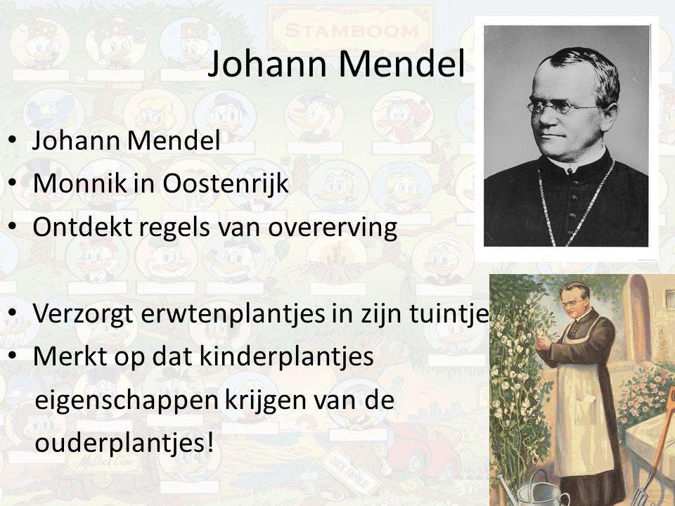 Johann Mendel Johann Mendel Monnik in Oostenrijk