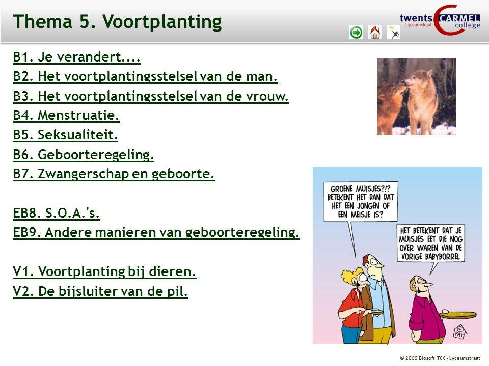 Thema 5. Voortplanting B1. Je verandert....