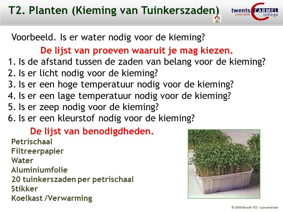 T2. Planten (Kieming van Tuinkerszaden)