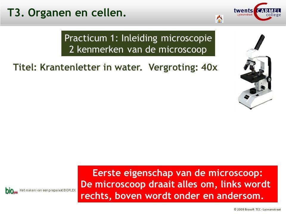 Eerste eigenschap van de microscoop: