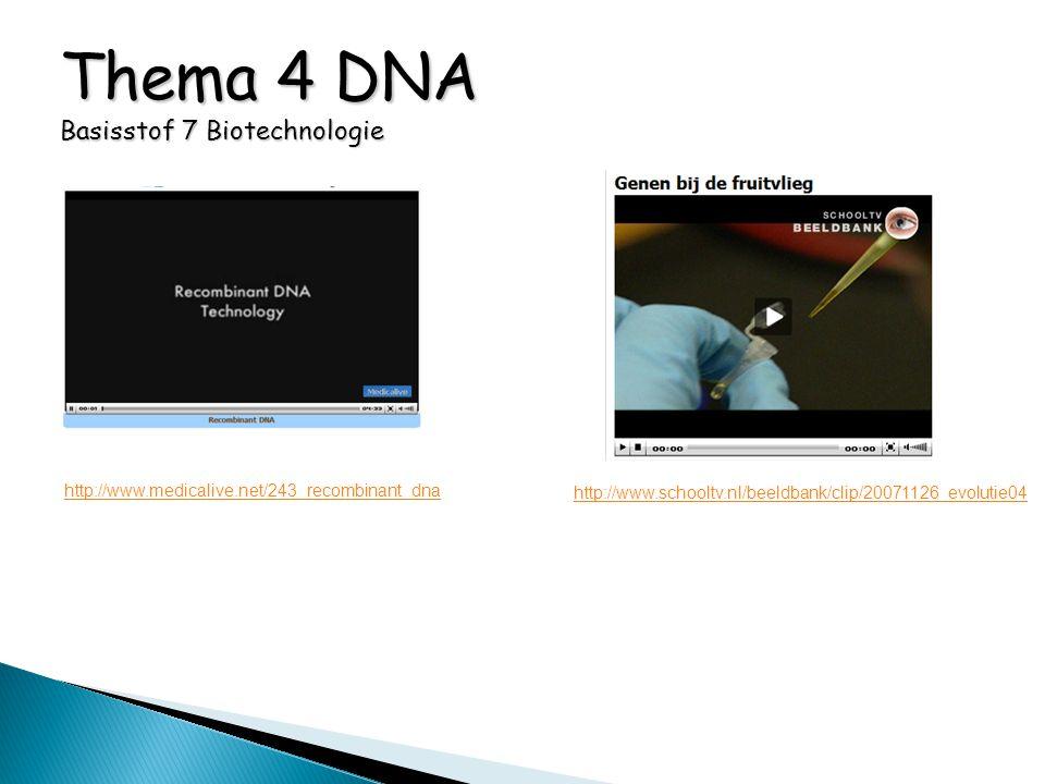Thema 4 DNA Basisstof 7 Biotechnologie