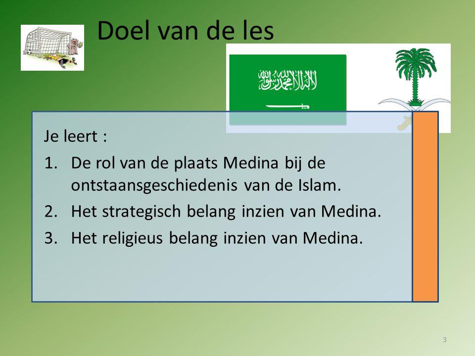 Doel van de les Je leert :