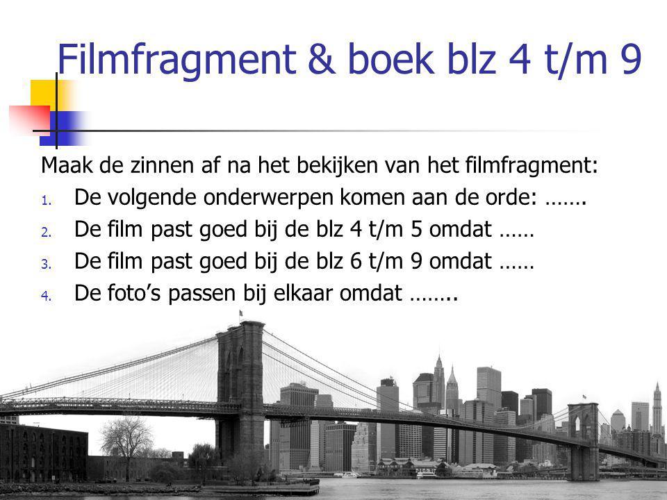 Filmfragment & boek blz 4 t/m 9