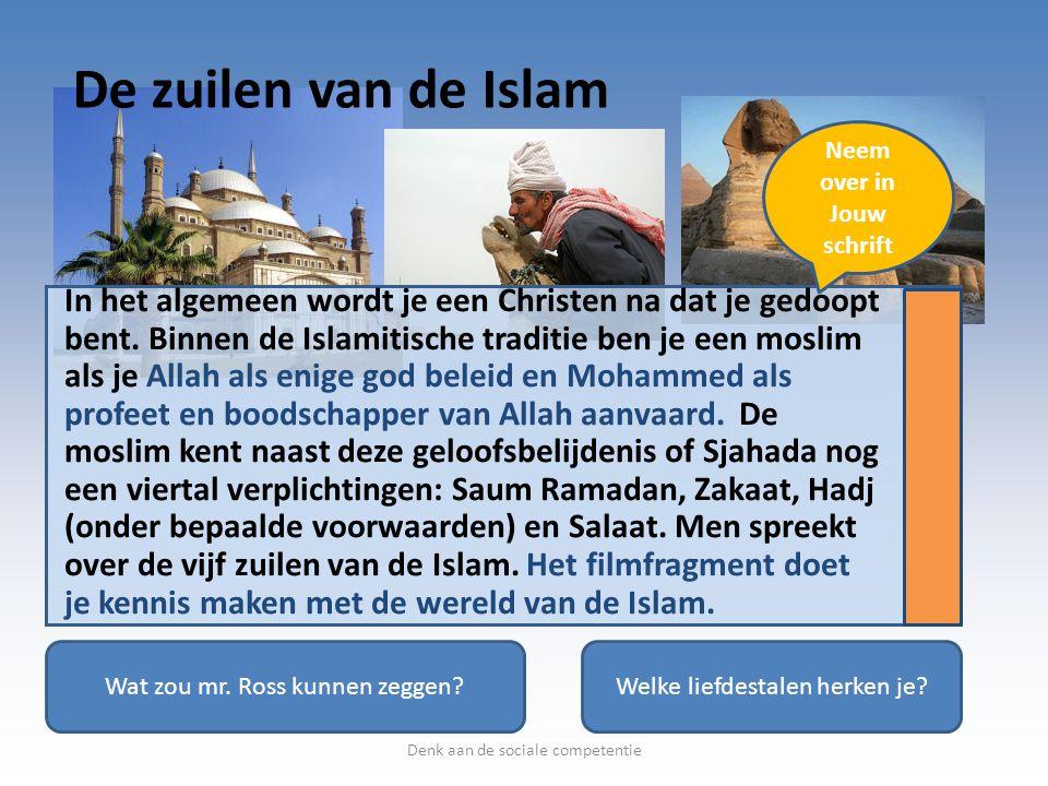 De zuilen van de Islam Neem over in. Jouw schrift.