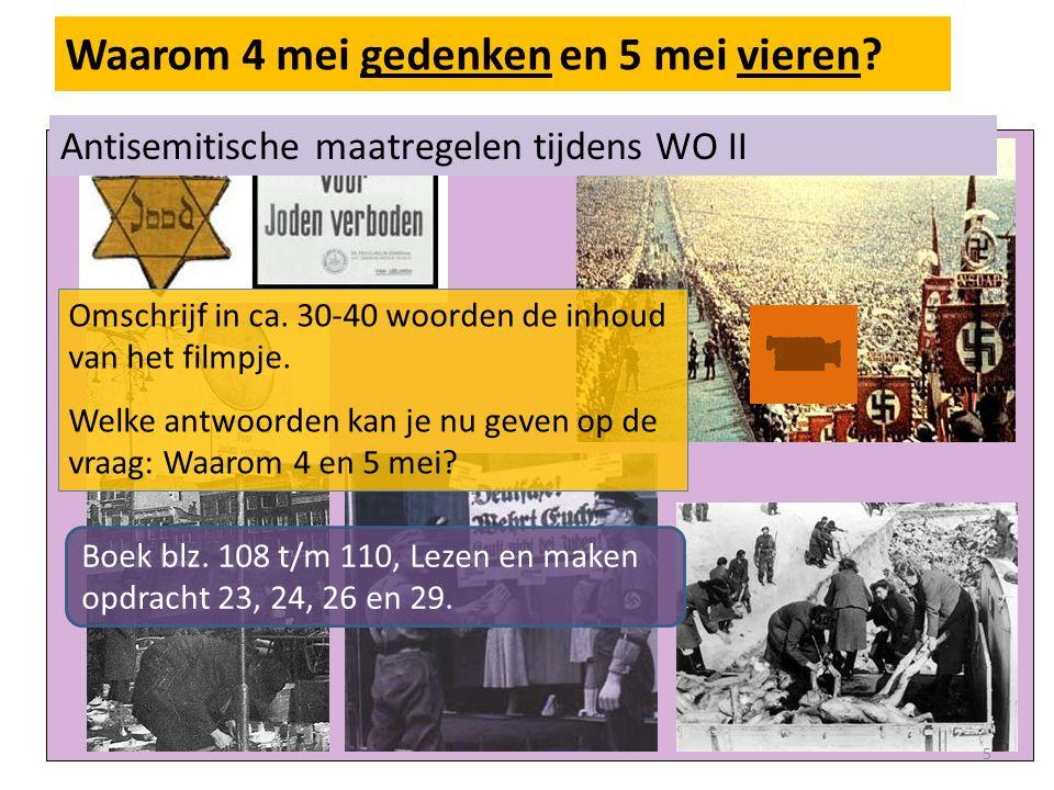 Waarom 4 mei gedenken en 5 mei vieren