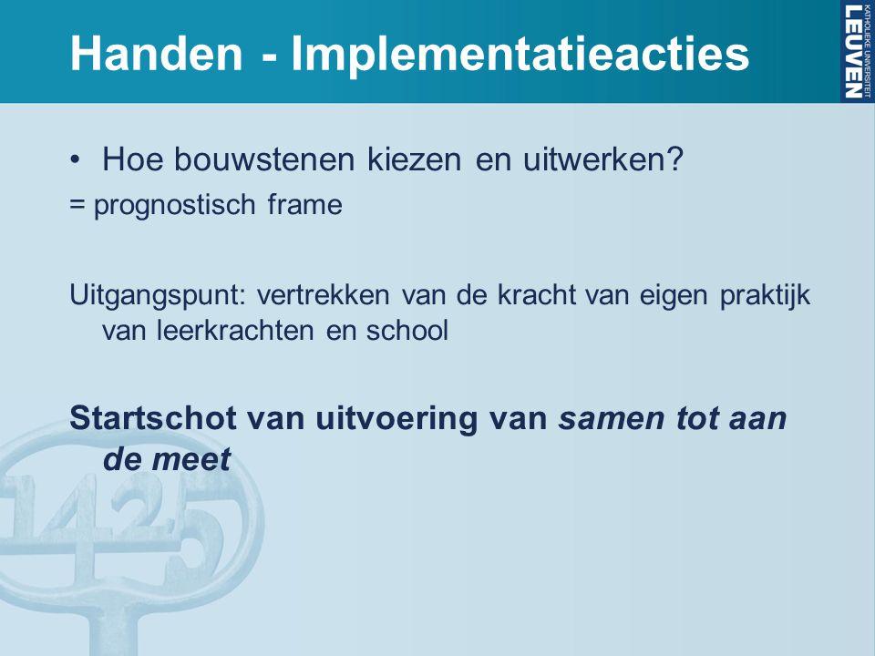 Handen - Implementatieacties