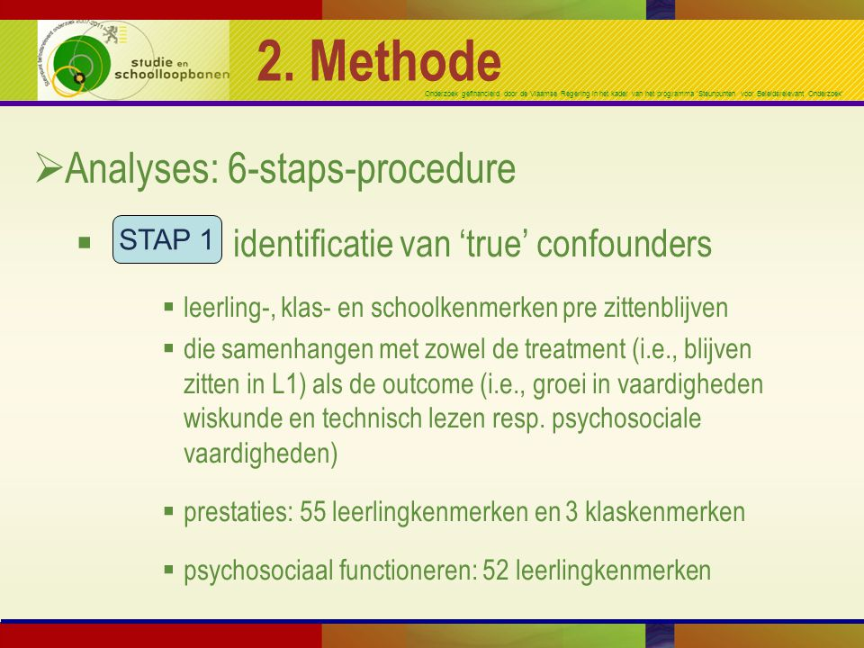 2. Methode Analyses: 6-staps-procedure