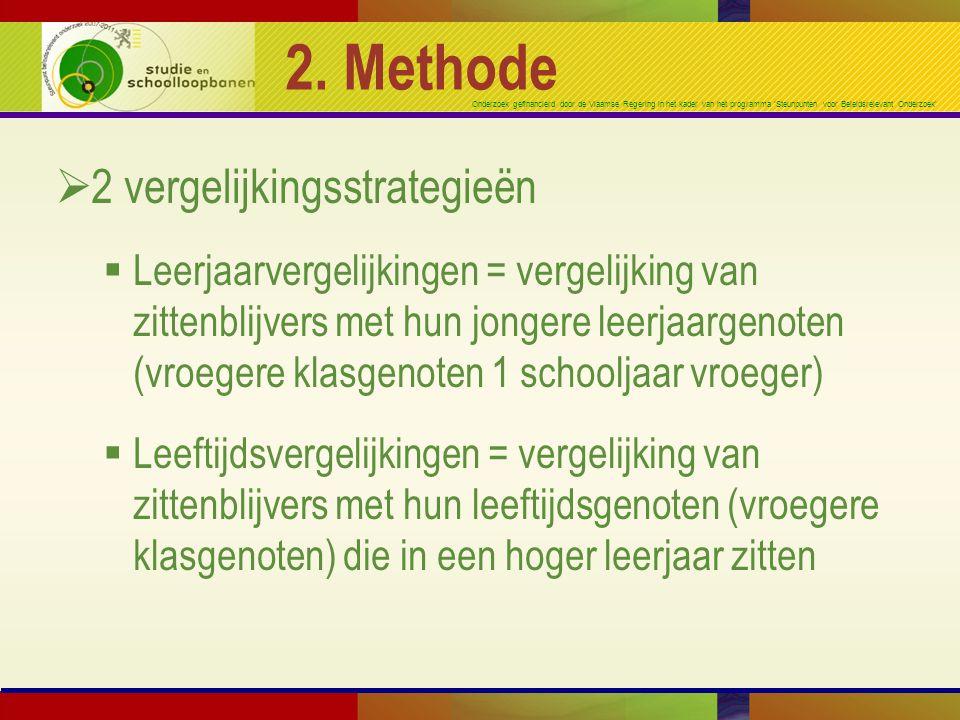 2. Methode 2 vergelijkingsstrategieën