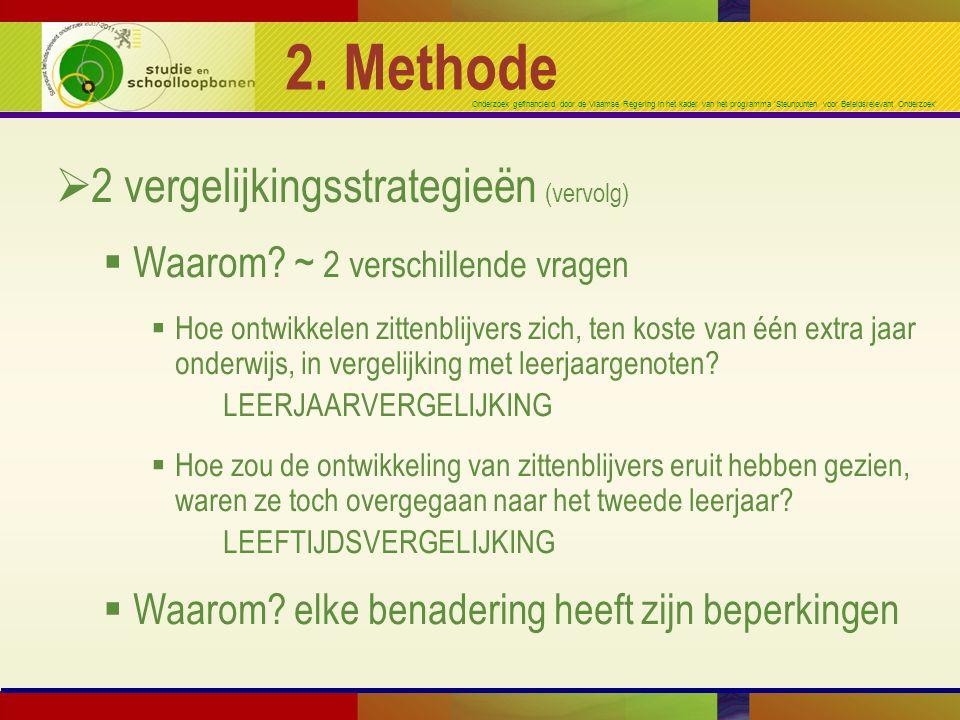 2. Methode 2 vergelijkingsstrategieën (vervolg)