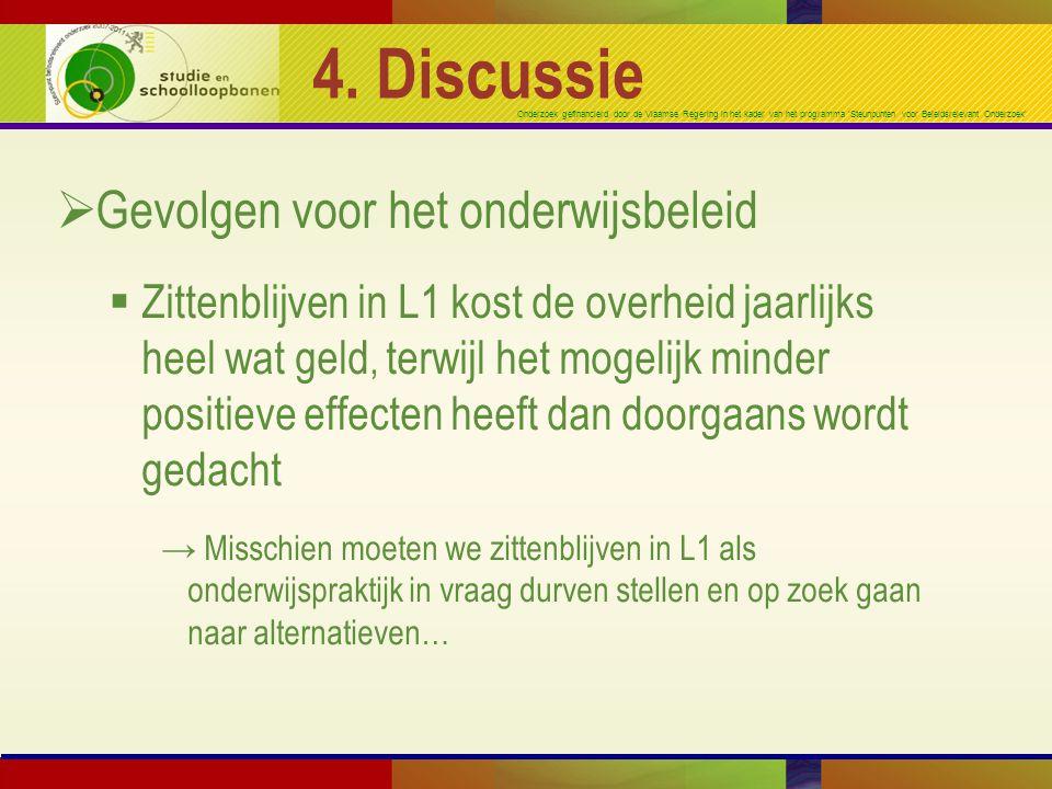 4. Discussie Gevolgen voor het onderwijsbeleid