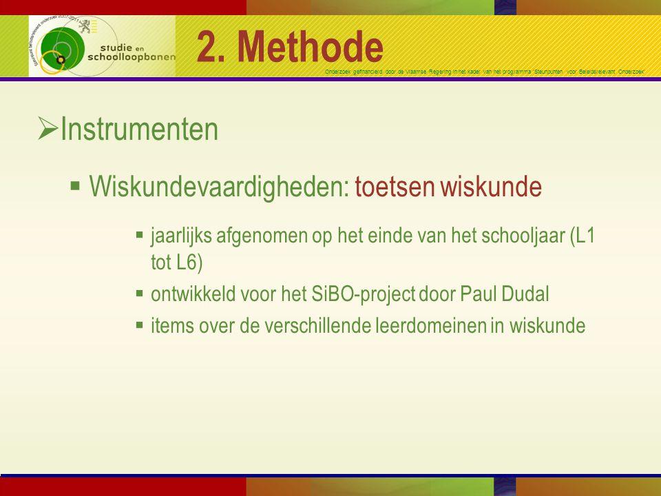 2. Methode Instrumenten Wiskundevaardigheden: toetsen wiskunde