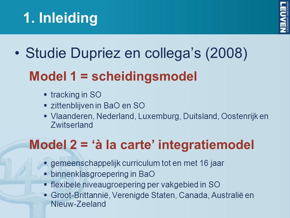 Studie Dupriez en collega's (2008)
