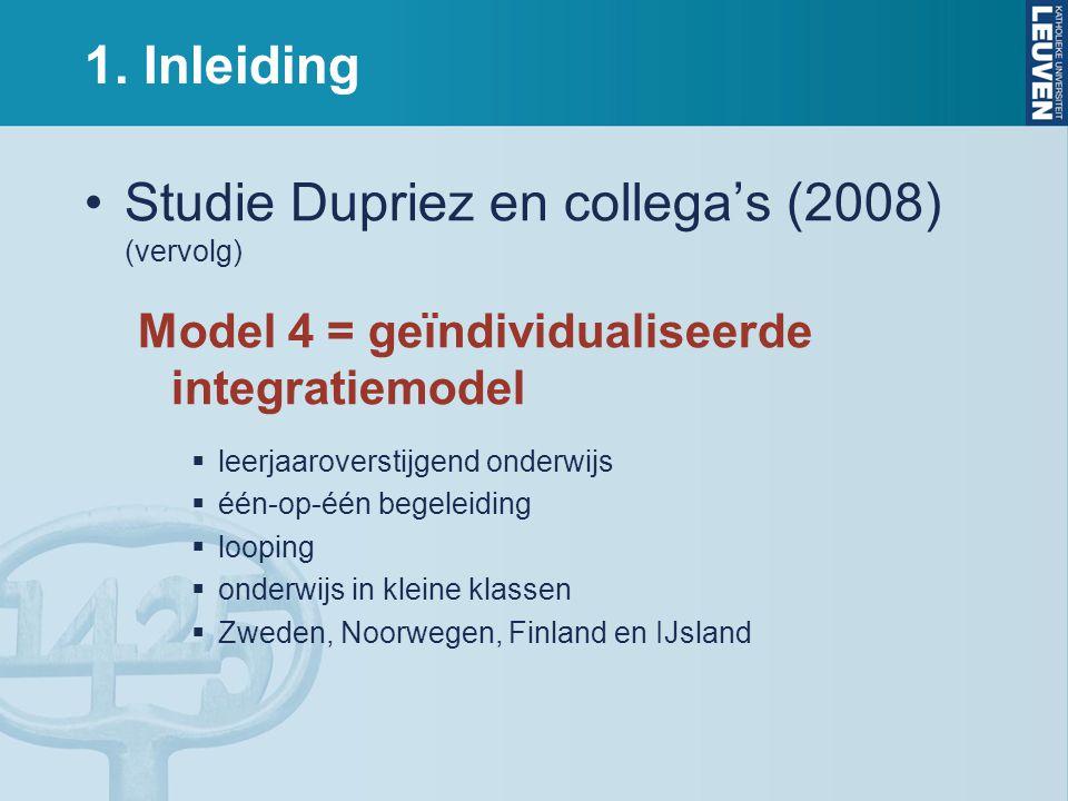 Studie Dupriez en collega's (2008) (vervolg)