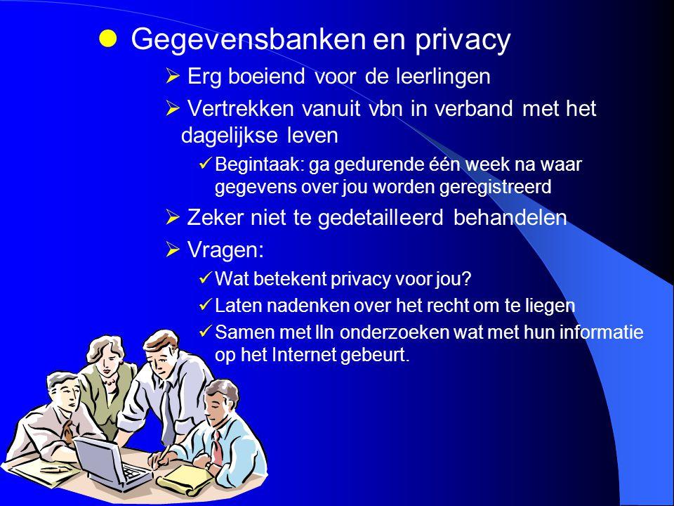 Gegevensbanken en privacy
