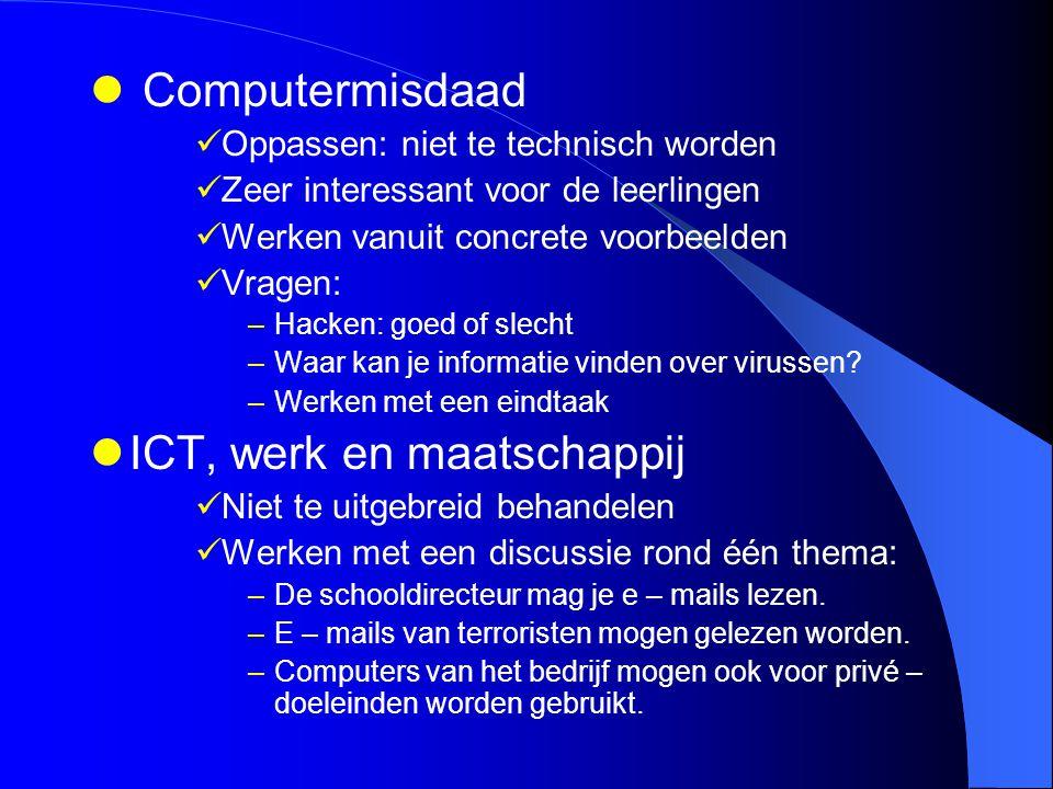 ICT, werk en maatschappij