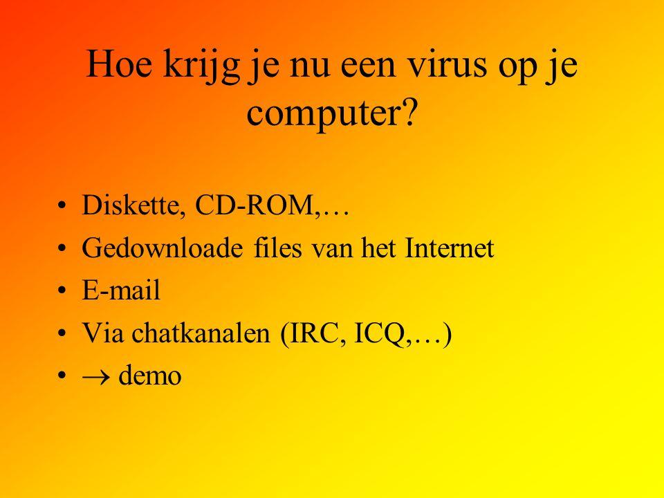 Hoe krijg je nu een virus op je computer