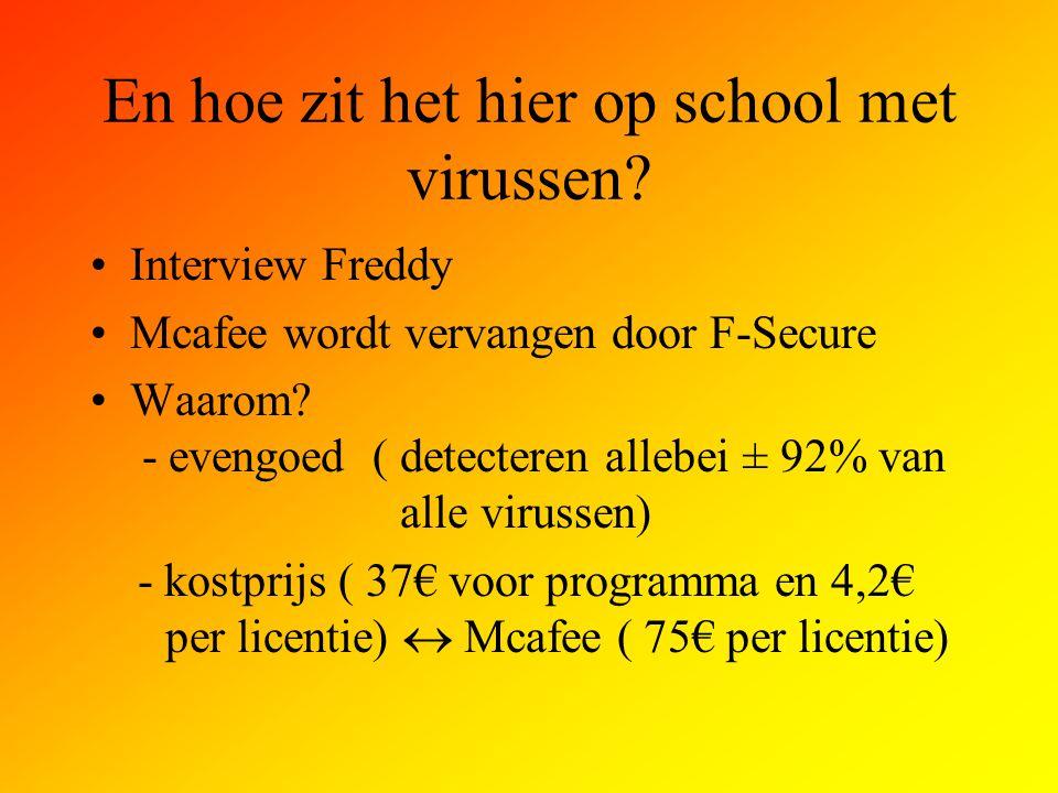 En hoe zit het hier op school met virussen