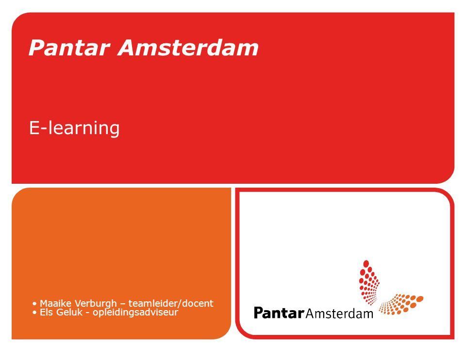 Pantar Amsterdam E-learning Maaike Verburgh – teamleider/docent