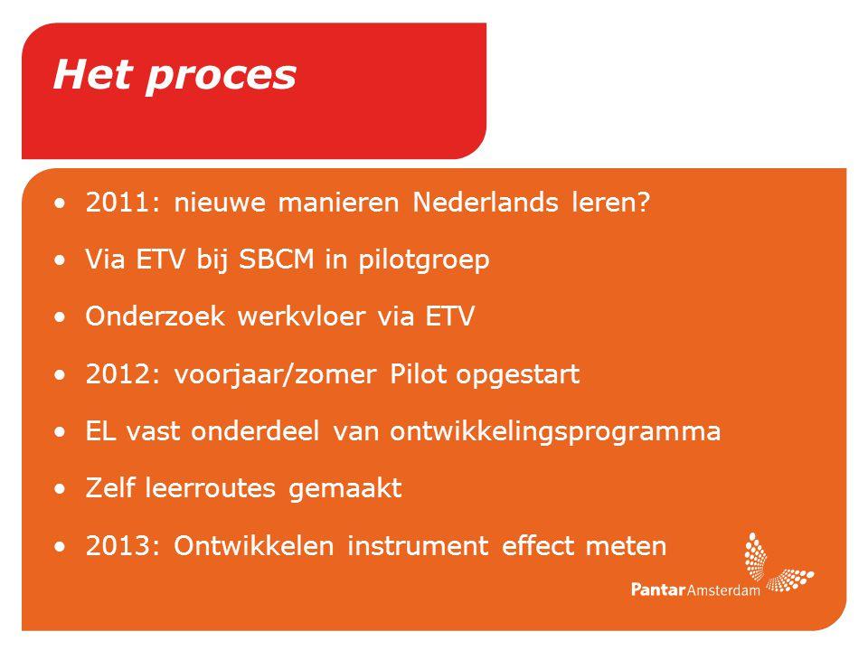 Het proces 2011: nieuwe manieren Nederlands leren