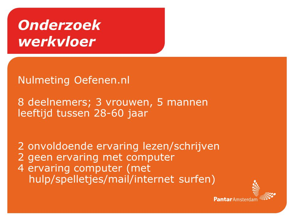 Onderzoek werkvloer Nulmeting Oefenen.nl