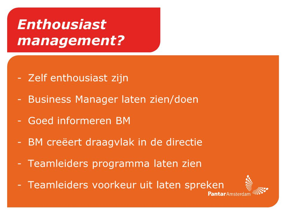 Enthousiast management