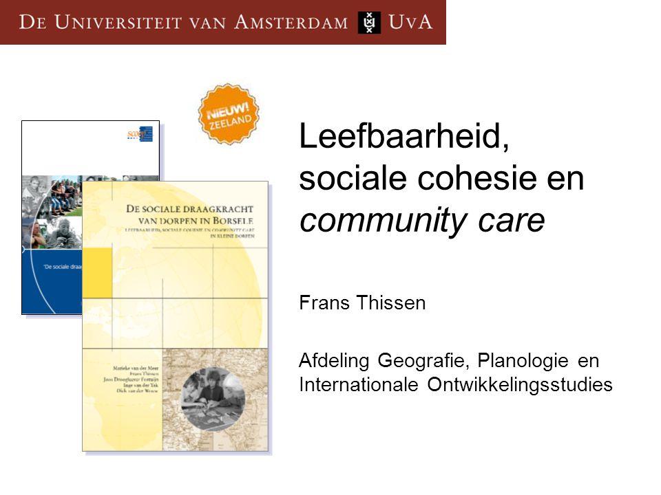 Leefbaarheid, sociale cohesie en community care
