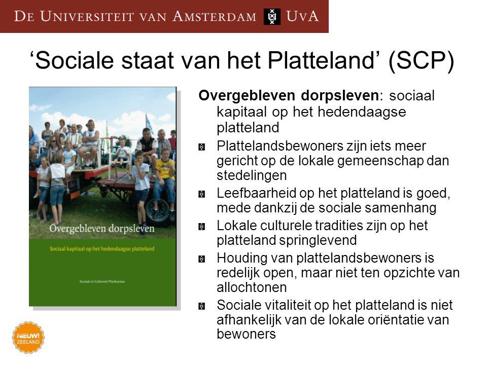 'Sociale staat van het Platteland' (SCP)