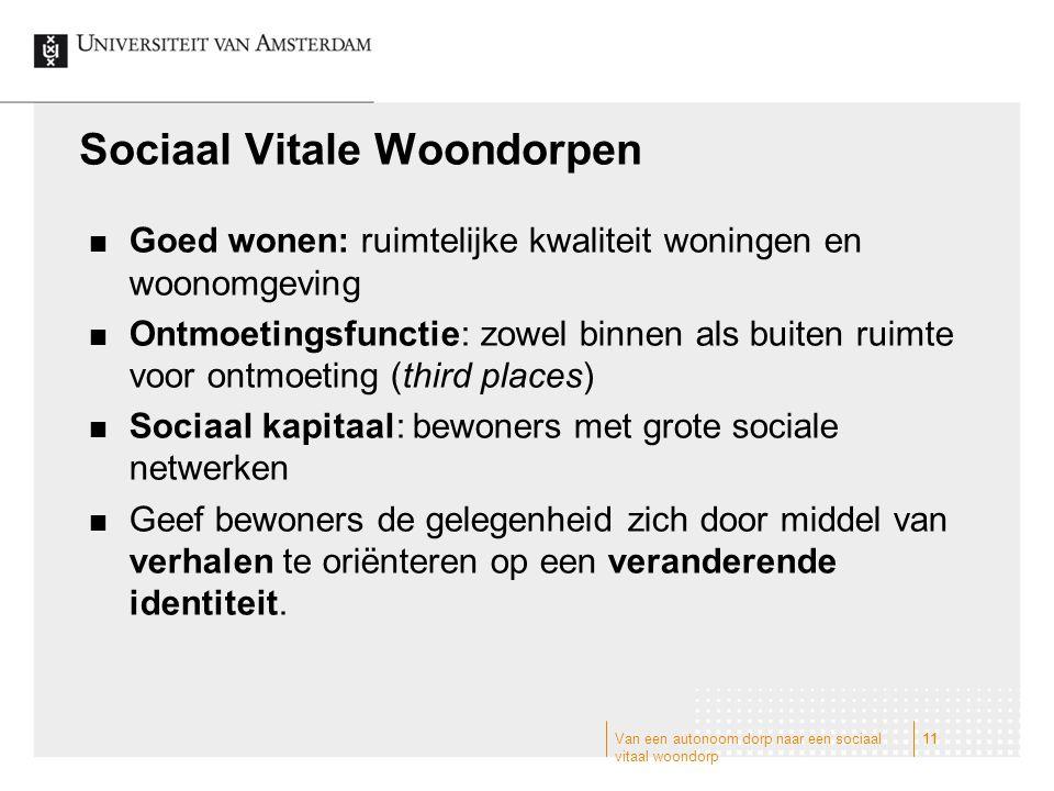 Sociaal Vitale Woondorpen