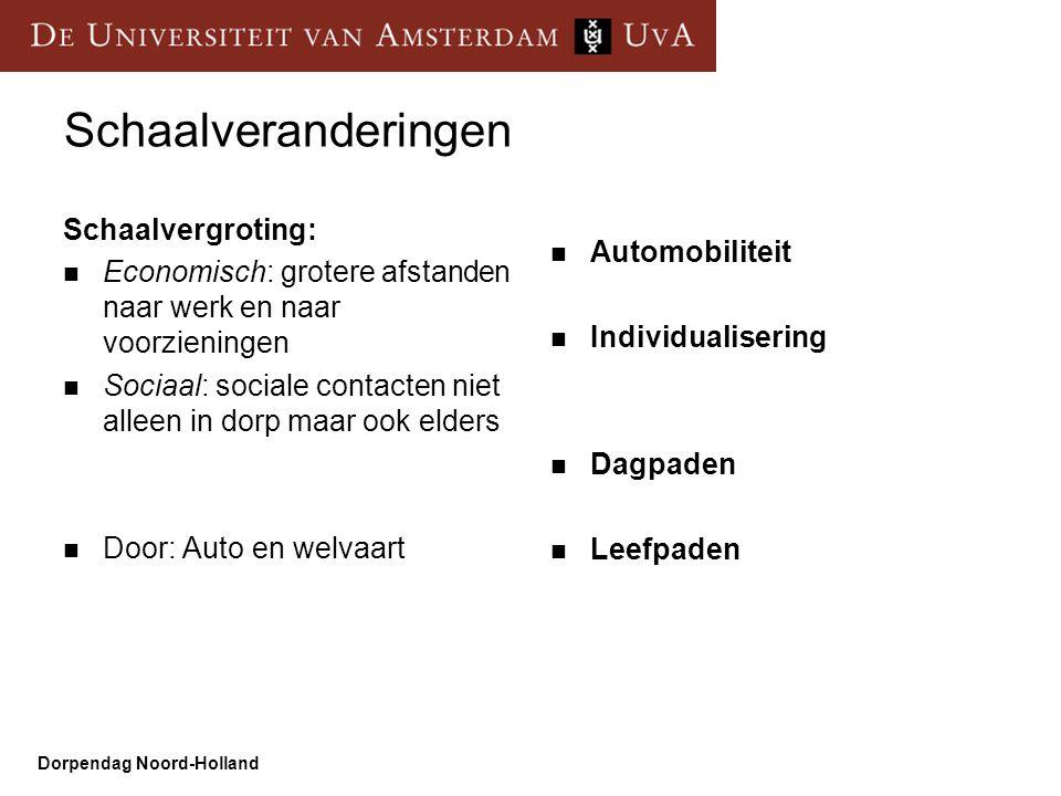 Schaalveranderingen Schaalvergroting: Automobiliteit
