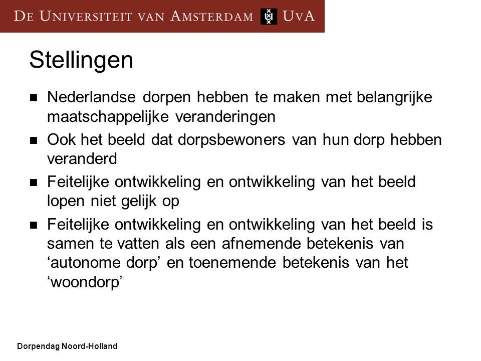 Stellingen Nederlandse dorpen hebben te maken met belangrijke maatschappelijke veranderingen.