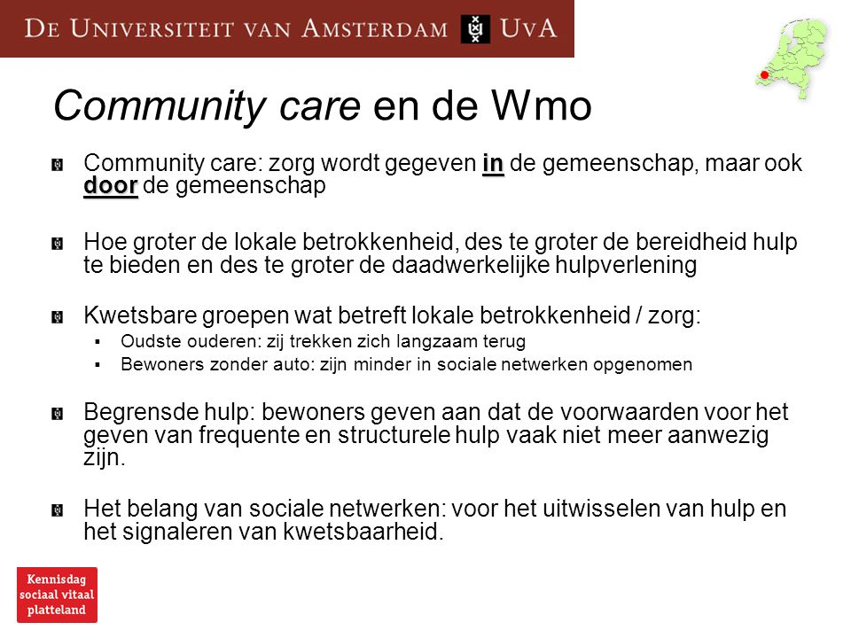 Community care en de Wmo