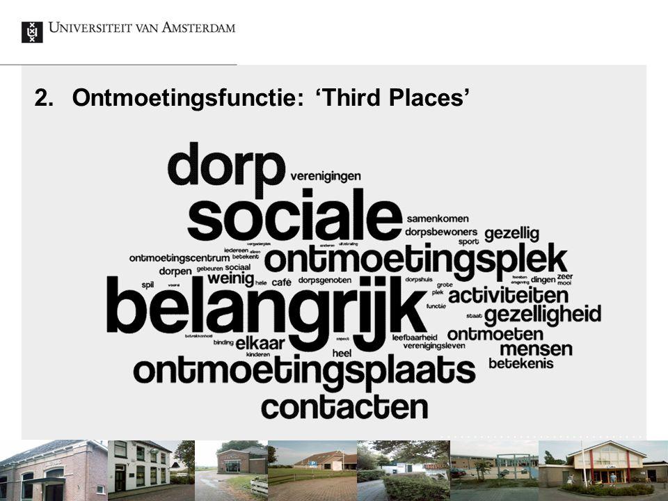Ontmoetingsfunctie: 'Third Places'