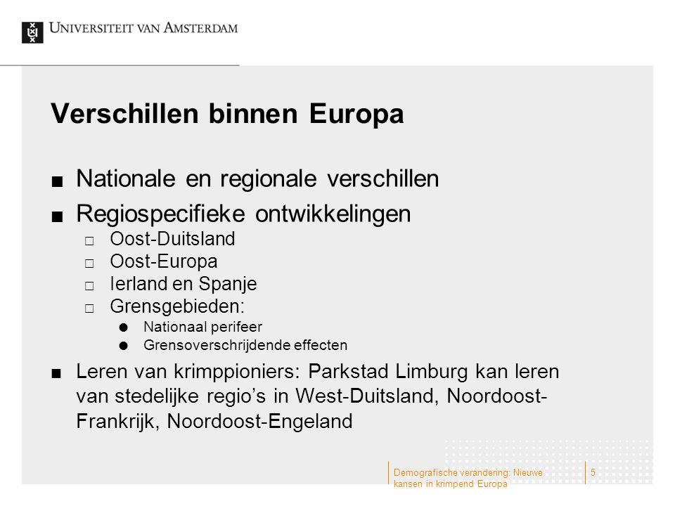 Verschillen binnen Europa