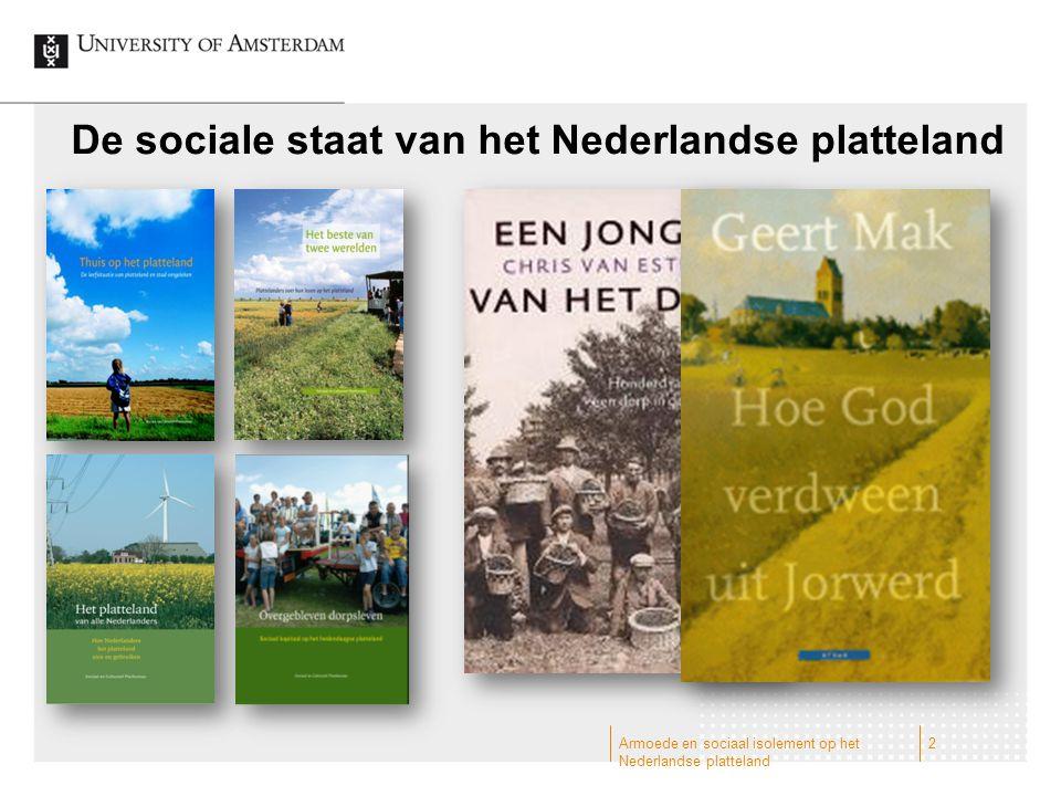 De sociale staat van het Nederlandse platteland