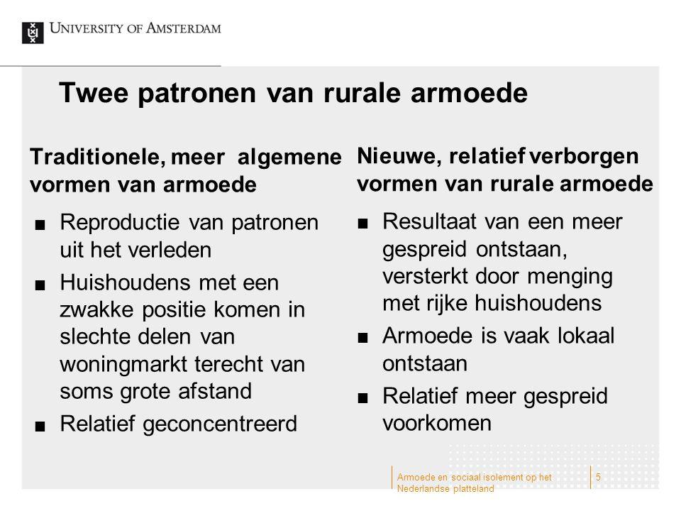 Twee patronen van rurale armoede