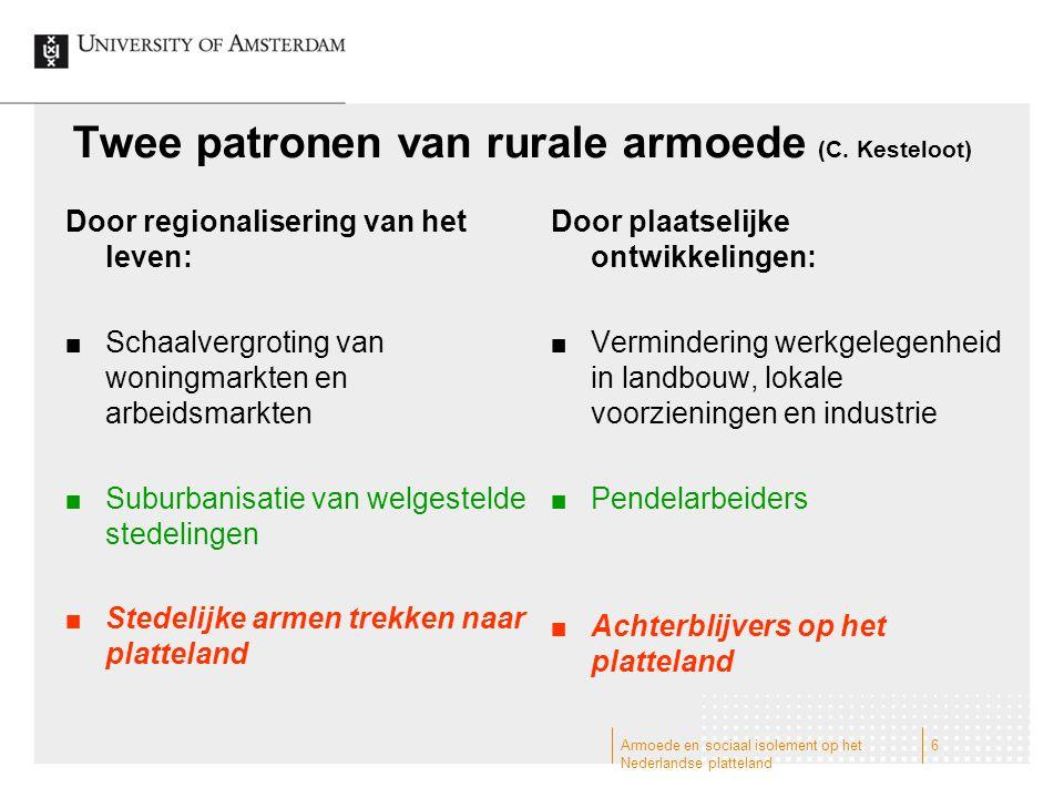 Twee patronen van rurale armoede (C. Kesteloot)