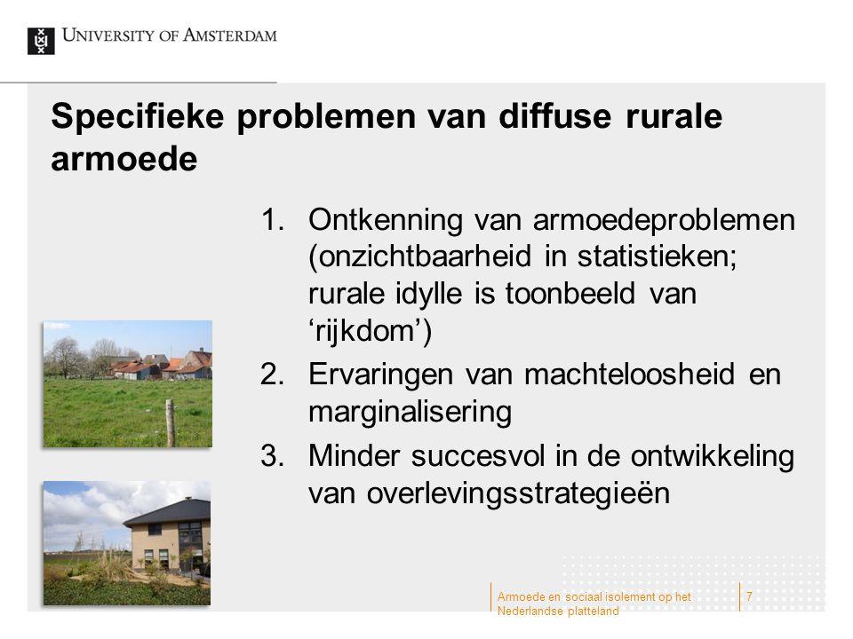 Specifieke problemen van diffuse rurale armoede