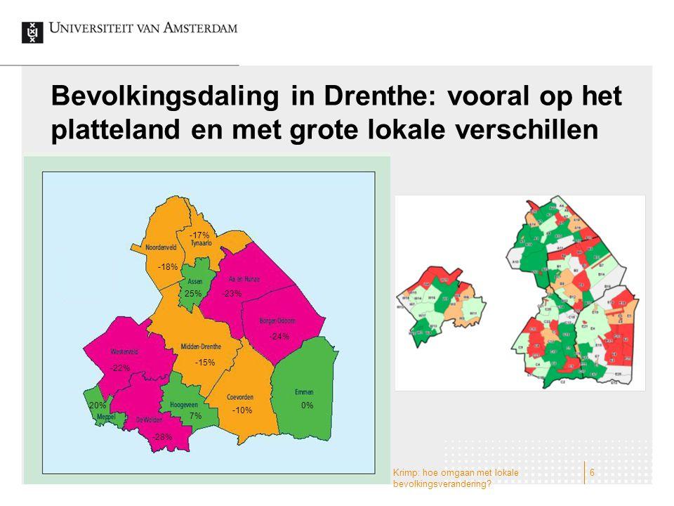 Bevolkingsdaling in Drenthe: vooral op het platteland en met grote lokale verschillen