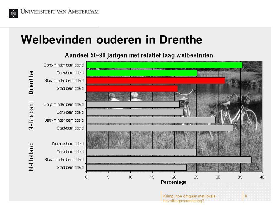Welbevinden ouderen in Drenthe