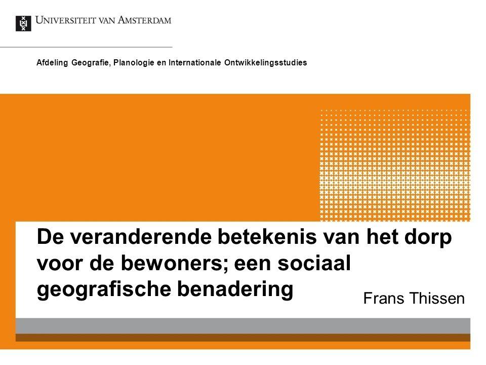 Afdeling Geografie, Planologie en Internationale Ontwikkelingsstudies