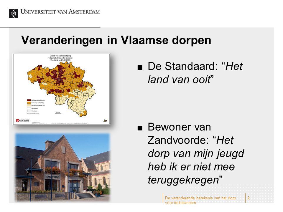 Veranderingen in Vlaamse dorpen