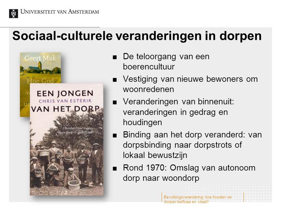 Sociaal-culturele veranderingen in dorpen