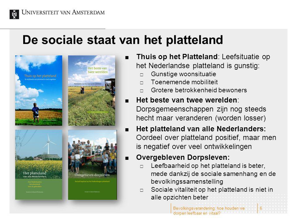 De sociale staat van het platteland