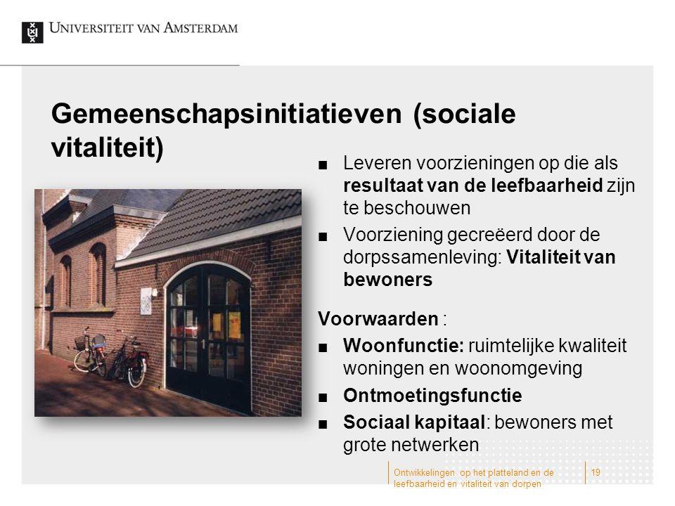 Gemeenschapsinitiatieven (sociale vitaliteit)