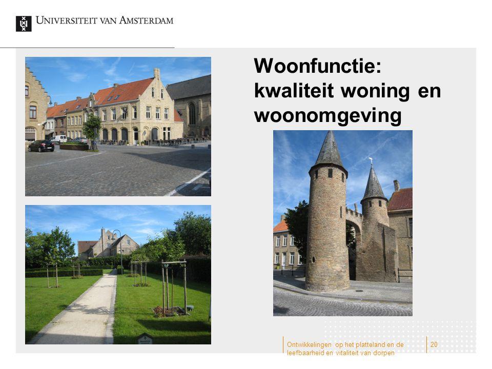 Woonfunctie: kwaliteit woning en woonomgeving