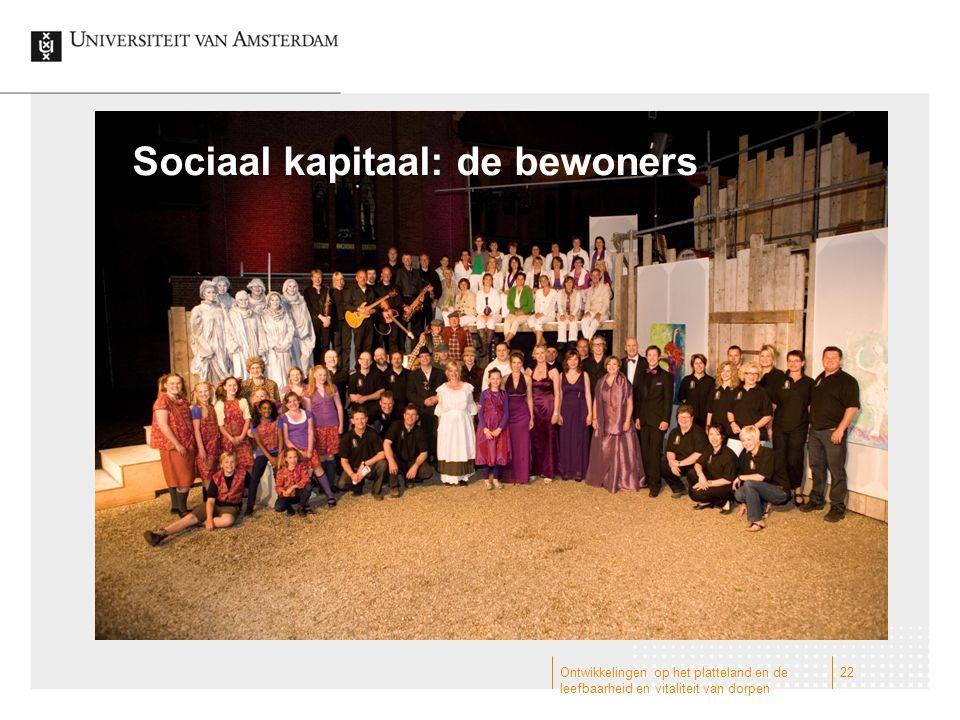 Sociaal kapitaal: de bewoners