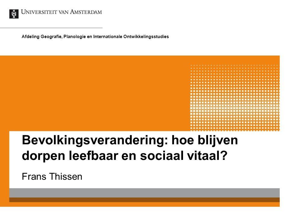 Bevolkingsverandering: hoe blijven dorpen leefbaar en sociaal vitaal