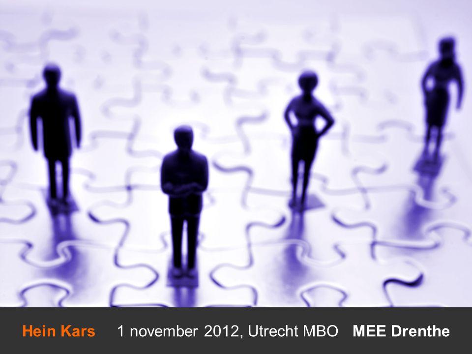 Hein Kars 1 november 2012, Utrecht MBO MEE Drenthe